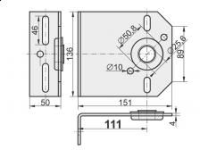 shaft support with a bearing 4x111mm
