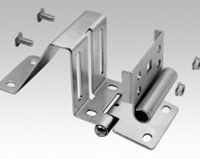 inverted side hinge 40x244/2,0 mm fi 8 set