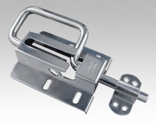 gate bolt 120mm with a fastener