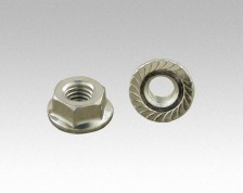 stainless shoulder serrated nut M8